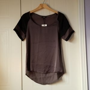 NWT Mexx grey black short sleeve top